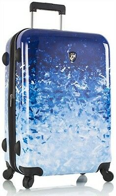 """Heys America Luggage Blue Skies 26"""" Spinner Expandable Upright Suitcase - Ombre"""