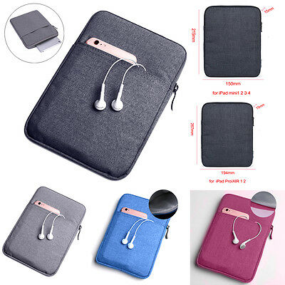 Shockproof Tablet Sleeve Pouch Bag Case Cover for iPad Mini 4/3/2/1 iPad Air Pro