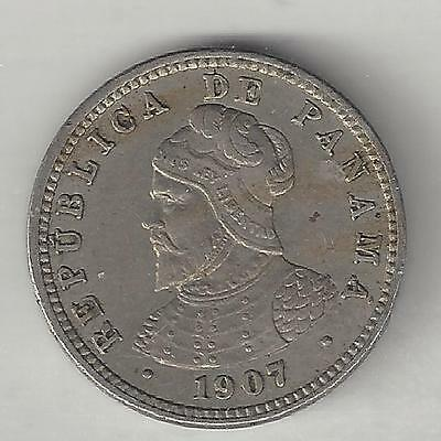 North & Central America Mint Lustre Gvf Products Are Sold Without Limitations Coins 1907 Panama Medio Centesimo Coin Km#6