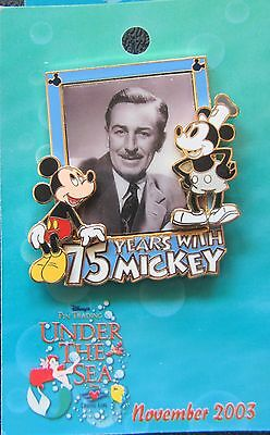 Disney DCL Pin Trading Under the Sea 75 Years with Mickey & Walt - 3D Pin