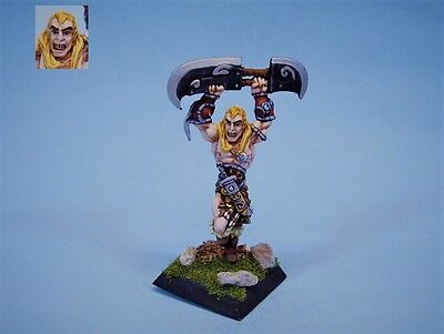 Confrontation painted miniature Barbarian Malek