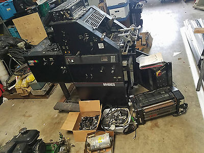 Used AB Dick 9910XCS Offset Printing Press With Swing-Out Townsend T-51 ABDick