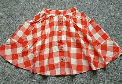 Joules Original Girls soft cotton Checked Skirt. Size 6 yrs. RRP £34. Brand new.