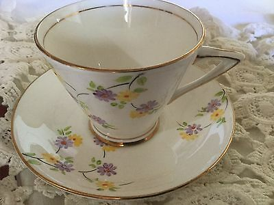 Hand Painted Phoenix Bone China  Cup And Saucer England