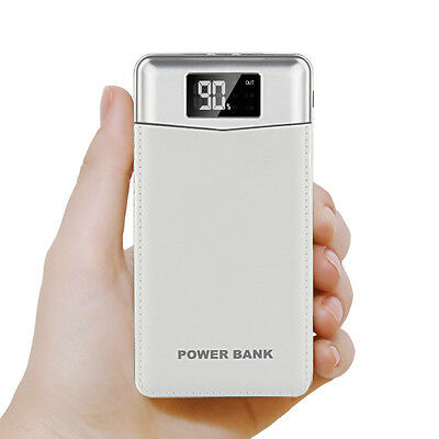 Portable 50000mAh LCD Power Bank External 2 USB 2 LED Battery Charger For Phone
