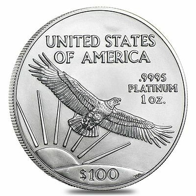 $100 Platinum American Eagle 1 oz Coin - US Mint American Eagle Random Year