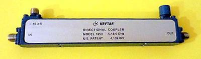 KRYTAR 1850 16 DB Directional Coupler SMA .5 to 18.5 Ghz