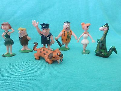 The Flintstones Tinykins Figurines ~ Vintage 1960s by Marx ~ Disneykins ~ Nice!