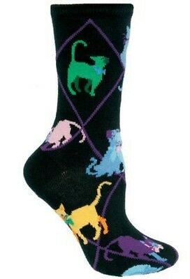 New! COLORFUL CATS Socks by Wheelhouse~USA~LARGE~Mother's Day Gift! Ships Free!