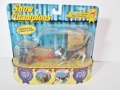 Show Champions Empire Magic Motion Dogs Yorkshire Terrier Siberian Husky New