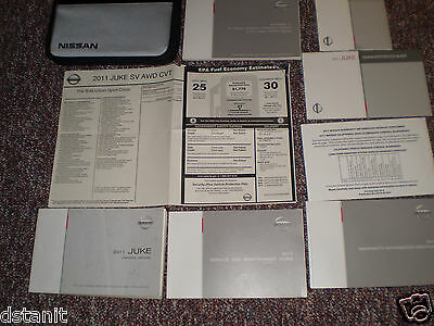 2011 Nissan Juke Complete Owners Manual Books Dvd Guide Label Case All Models