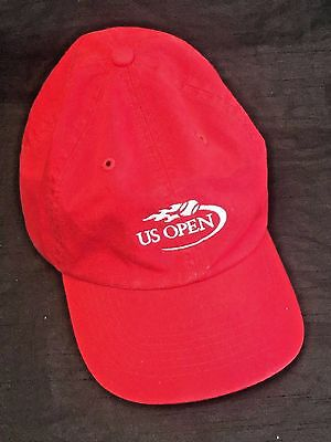 Us Open Tennis Hat Baseball Cap Red & White Adjustable 100% Cotton