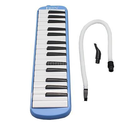 32 Piano Keys Melodica With Short Mouthpiece Gift for Kid with Bag Blue I1E8
