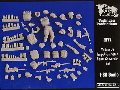 VERLINDEN PRODUCTIONS #2177 Modern US Iraq-Afghan Figure Conversion Set in 1:35