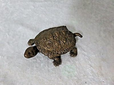 Vintage Brass Trinket box Turtle Advertising Neuberger Bros. Plumbing NY