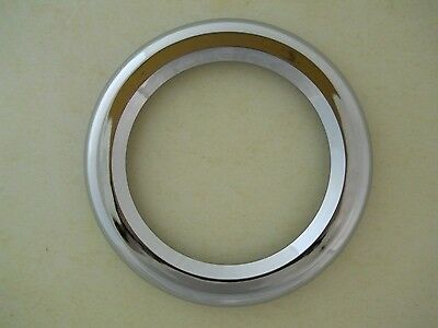 "(2) 4"" Chrome Twist On Bezel / Clean Look / No Screws / Fits 4"" Round LED Lights"