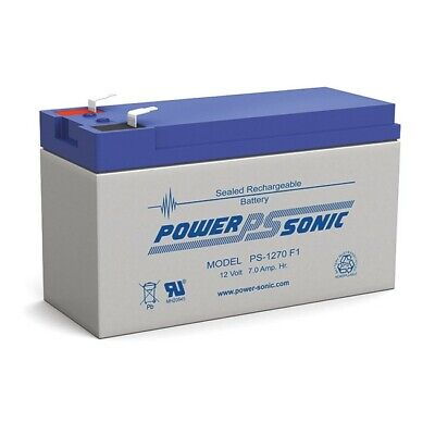 Power Sonic Ps1270 12V 7Amp Rechargeable Sla Battery Sealed Lead Acid New