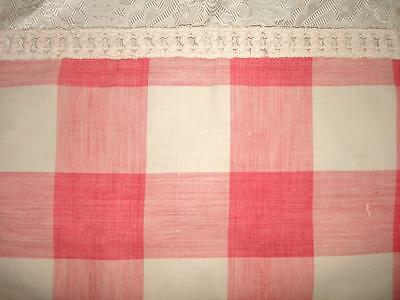 BEAUTIFUL EARLY 19th CENTURY FRENCH PALE PINK VICHY CHECK, PASSEMENTERIE c1820s