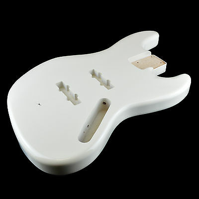 Jazz Bass Electric Guitar Body 2 Piece USA Alder - Olympic White