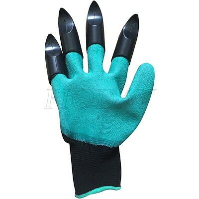 Creative Garden Gloves for Digging & Planting With 4 ABS Plastic Claws Gardening
