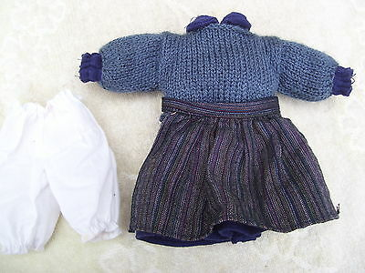 Alte Puppenkleidung Warm Apron Dress Outfit vintage Doll clothes 25 cm Girl