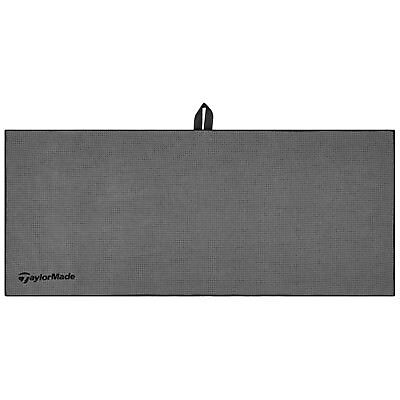 """2017 TaylorMade Microfibre Players Golf Towel - New Grey Absorbant 17X40"""" Large"""