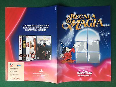 (Q36) CATALOGO WALT DISNEY HOME VIDEO Anni '90 VHS Brochure Catalogo KATALOG