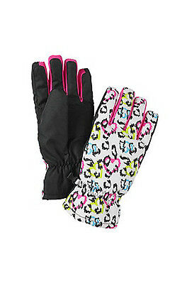 NEW Mambo Girl's Cold Weather Leopard Print Gloves - Multi - Size: 4-6x