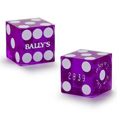 Pair (2) of Official 19mm Casino Dice Used at Bally's Casino by Brybelly