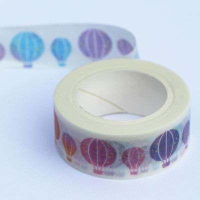 Colourful Hot Air Balloon Washi Paper Tape 7m - 15mm wide - Craft