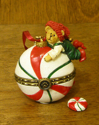 Boyds Resin Ornament #25208 Peppermint Hinged Box ORN, NIB From Retail Store