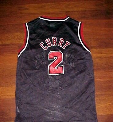 5e49af12c Eddy Curry 2 Chicago Bulls NBA Champion Boys Black Red Basketball Jersey M  10-12