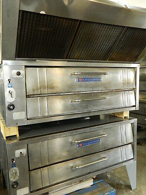 Bakers Pride 451 / 452 Nat Gas Double Deck Pizza Ovens 550°F Thermostat W/ Hood