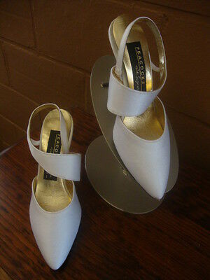 #3 New Vintage Crepe Dress Shoes for Wedding Bridal Size 4 1/2 Strappy Pumps