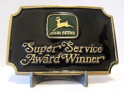 John Deere DEALER 1985 Super Service Award Belt Buckle Ltd Ed 323/500 Portland