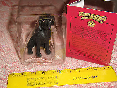 Black Labrador Dog Limited Edition Collector's Series resin ornament New in Box