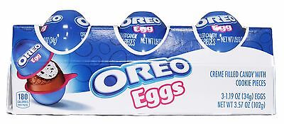 MONDELEZ 3.57 oz 3pc Pack OREO EGGS Cookie CANDY Creme Filled EASTER Exp. 8/17