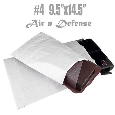 """20 #4 POLY BUBBLE PADDED AirnDefense ENVELOPES MAILERS BAG 9.5"""" x14.5 SELF SEAL"""