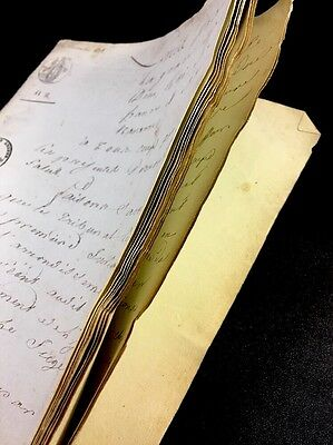 SEALED NAPOLEONIC PERIOD MANUSCRIPT 1815  24 pages