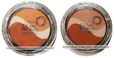 L'OREAL Paris GLAM BRONZE Radiant Bronzing Duo DISCONTINUED *YOU CHOOSE* New!