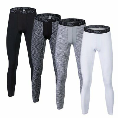 US Men Sports Running Compression Pants Gym Workout Base Layers Football Tights