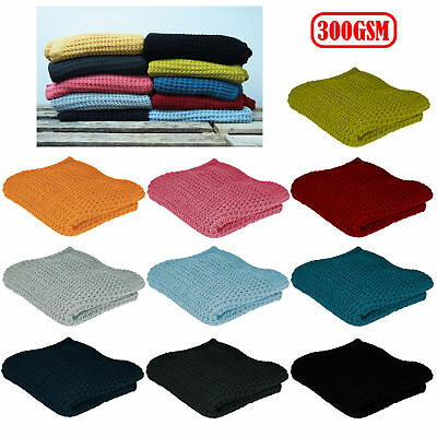 300GSM Ardor Knitted Lounge Sofa Bed Throw Blanket Rug 127 x 152 cm
