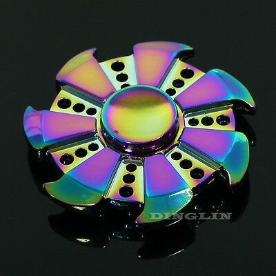 Multicolor Fidget Hand Spinner Ceramic Focus ADHD Autism Finger Toy Gyro Gifts