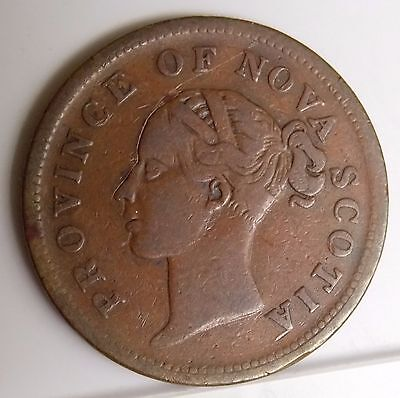 1840 NS-2C1 Nova Scotia Canada Colonial Canadian 1 Penny Thistle Token