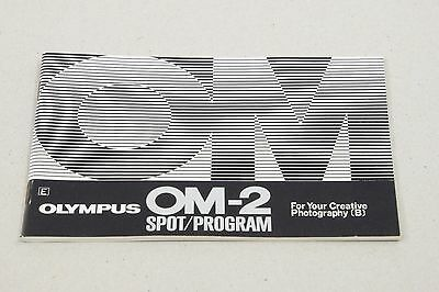 OLYMPUS OM-2 Spot/Program Instructions (B) 54 pages 15x10cm Creative Photography