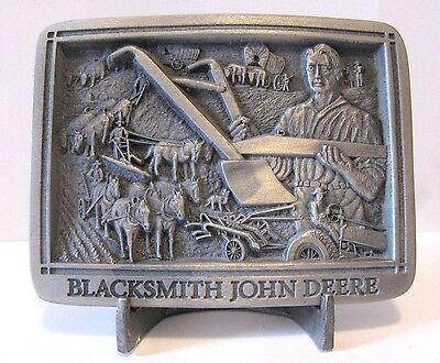 1999 John Deere Blacksmith A Tractor Plow Belt Buckle Limited Ed Hinton 1st Ser