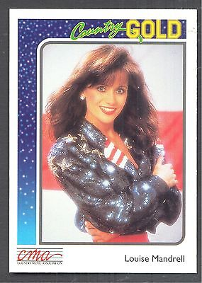 Louise Mandrell, Country Music Star on a 1992 Country Gold Card #82
