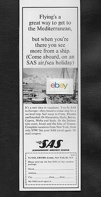 Sas Scandinavain 1958 Flying's A Great Way To Mediterranean But See More Ship Ad