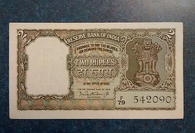India 2 rupees Banknote