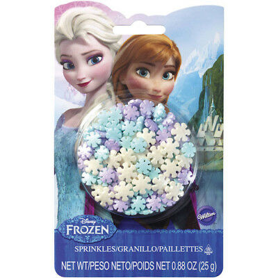 Frozen Snowflake Shaped Sprinkles .88 oz from Wilton #4612 - NEW